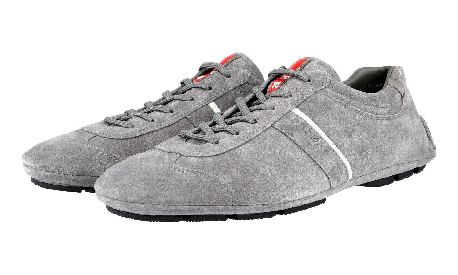 PRADA MONTE CARLO SNEAKERS SHOES 4E2599 GREY SUEDE NEW US 7.5