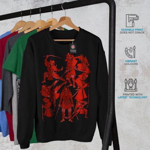 Men Warrior New Samurai Fantasy Sweatshirt Black qE8ndg