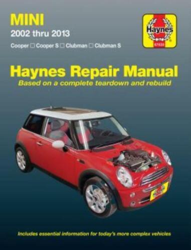 MINI 2002-2013 Cooper Cooper S Clubman CLUBMAN S Haynes WORKSHOP MANUALE DI SERVIZIO