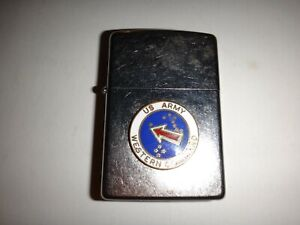 Year-2011-Street-Chrome-Zippo-Lighter-US-ARMY-WESTERN-COMMAND-Never-Used