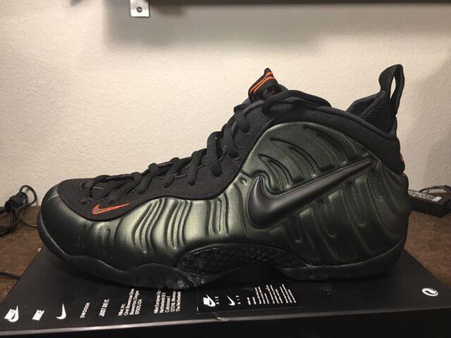 02e878fd000 Nike Air Foamposite Pro Sequoia Black Team Orange 624041-304 Mens Size 14