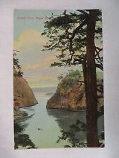 VINTAGE POSTCARD A VIEW OF CANOE PASS AT PUGET SOUND IN WASHINGTON UNMAILED