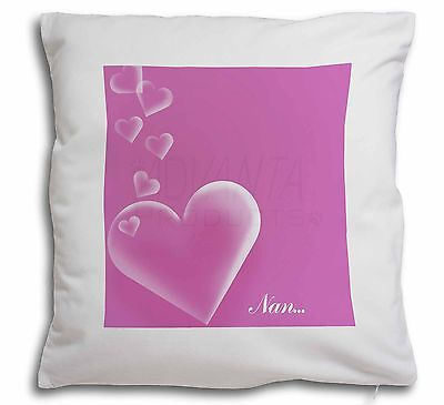 Pink Hearts Sentiment For 'nan' Soft Velvet Feel Cushion Cover With , Mum-h4-cpw Prezzo Pazzesco