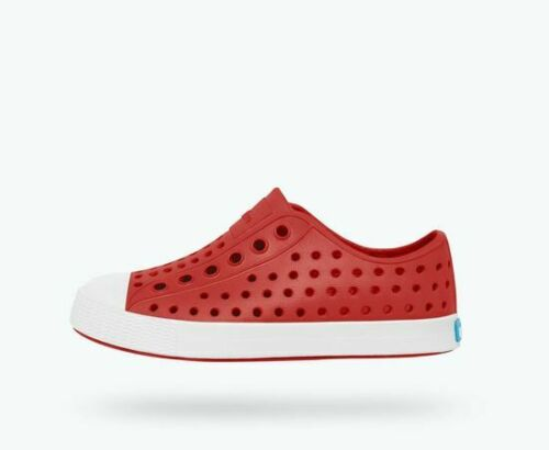 Free Shipping Native Jefferson Kids Torch Red//Shell White Summer Spring