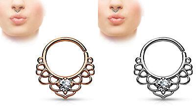 Septum Ring Nose Ring Nose Piercing Lotus Flower Septum Clicker