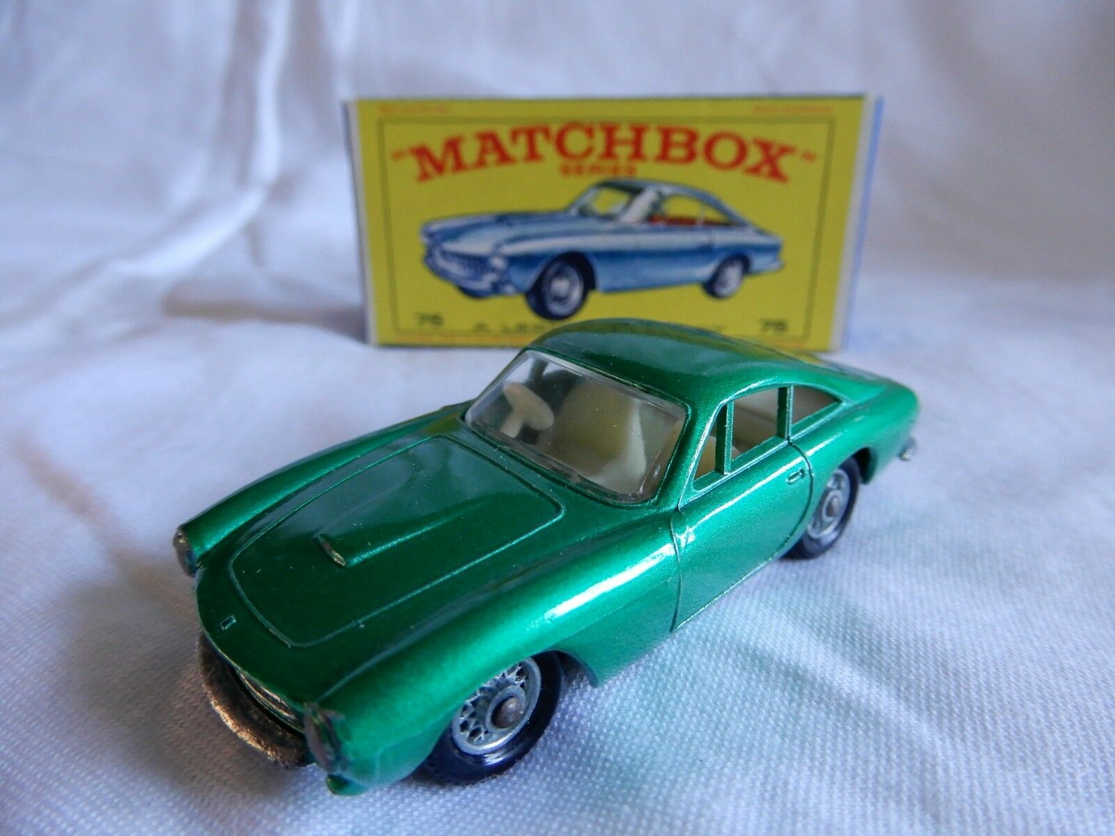 LESNEY MATCHBOX SERIES  FERRARI  BERLINETTA 75 CAR BOXED MADE IN ENGLAND