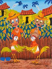 CUBAN ART**RUTH NAVARRO**La Danza Del Gallo** 25.5x19.5 ORIGINAL OIL ON CANVAS