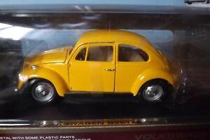 Road legends 1967 VW Volkswagon Beetle Yellow 1:18 Diecast Model Car