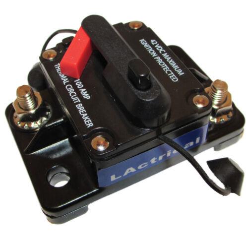 100AMP FUSE CIRCUIT BREAKER W// MANUAL RESET WATERPROOF FOR AUDIO RV MARINE BOAT