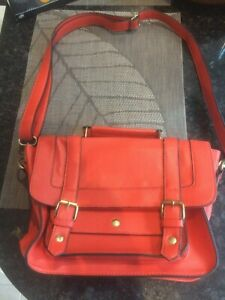 Handbag-shoulder-bag-red-satchel-Accessorize-in-beautiful-condition