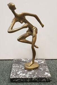 1930-039-s-Austrian-Art-Deco-After-Hagenauer-African-Woman-Running-Bronze-Sculpture