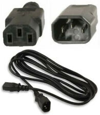 Lot10 12ft Male~Female AC Power Extension Cord/Cable/Wire IEC320 C13~C14 {BLACK