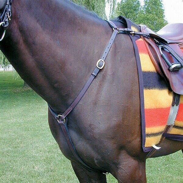 Nunn Finer Hunting Breastplate  Havana  Cob, cavallo, OverDiuominiione