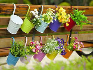 Image Is Loading 10 Pcs Metal Hanging Plant Pots Flower