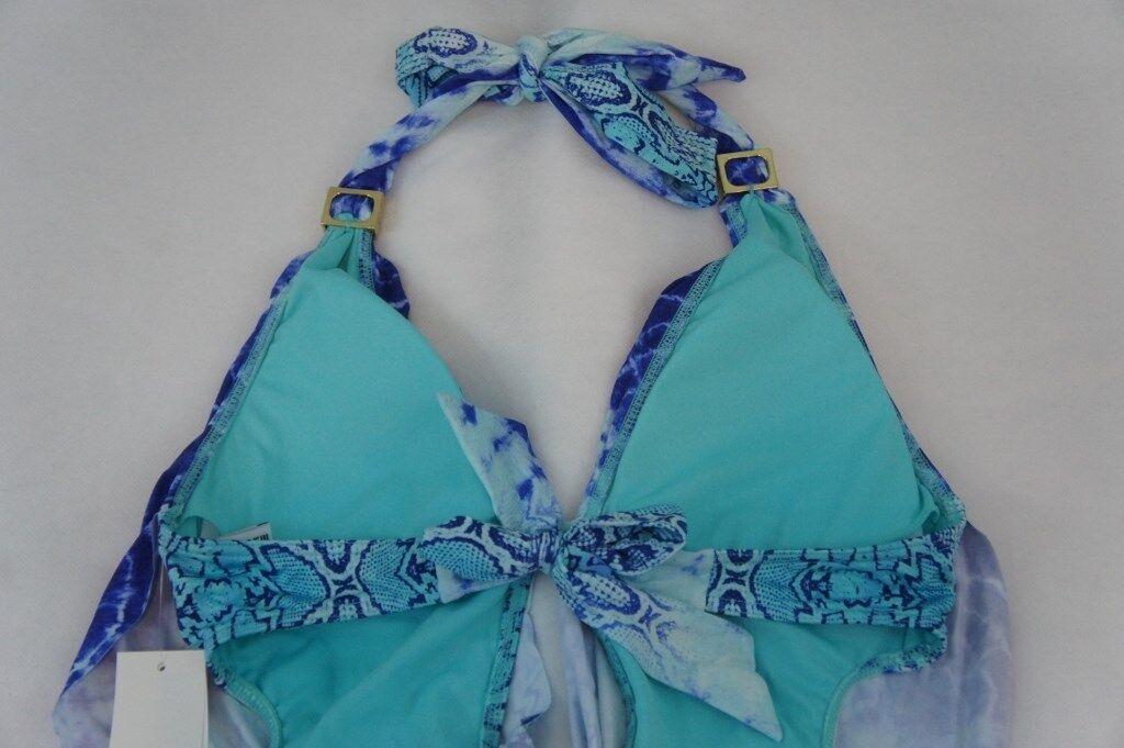 Bar III One Piece Sz Sz Sz XS Aqua bluee Cowl Monokini Swimsuit  Swimwear 5MBPW13M b3cffa