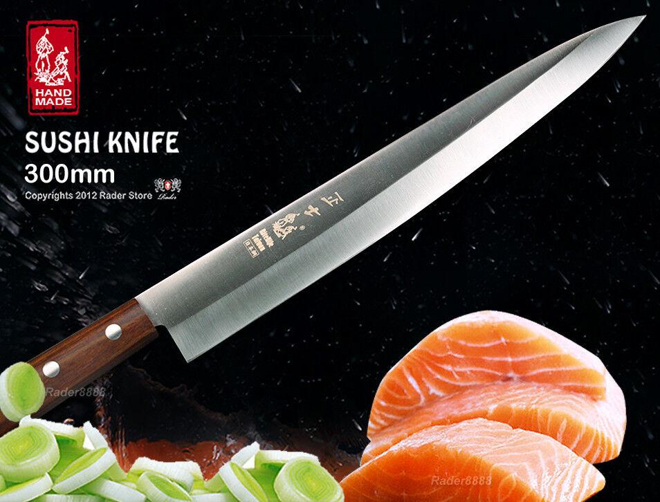 Handmade Chef's Sashimi Fillet Knife 12  Single Bevel Slicer Cookware Cutlery