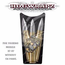 HogWrapz Gas Tank Dash Console Insert 87-07 Harley Touring - USMC &  Bullets