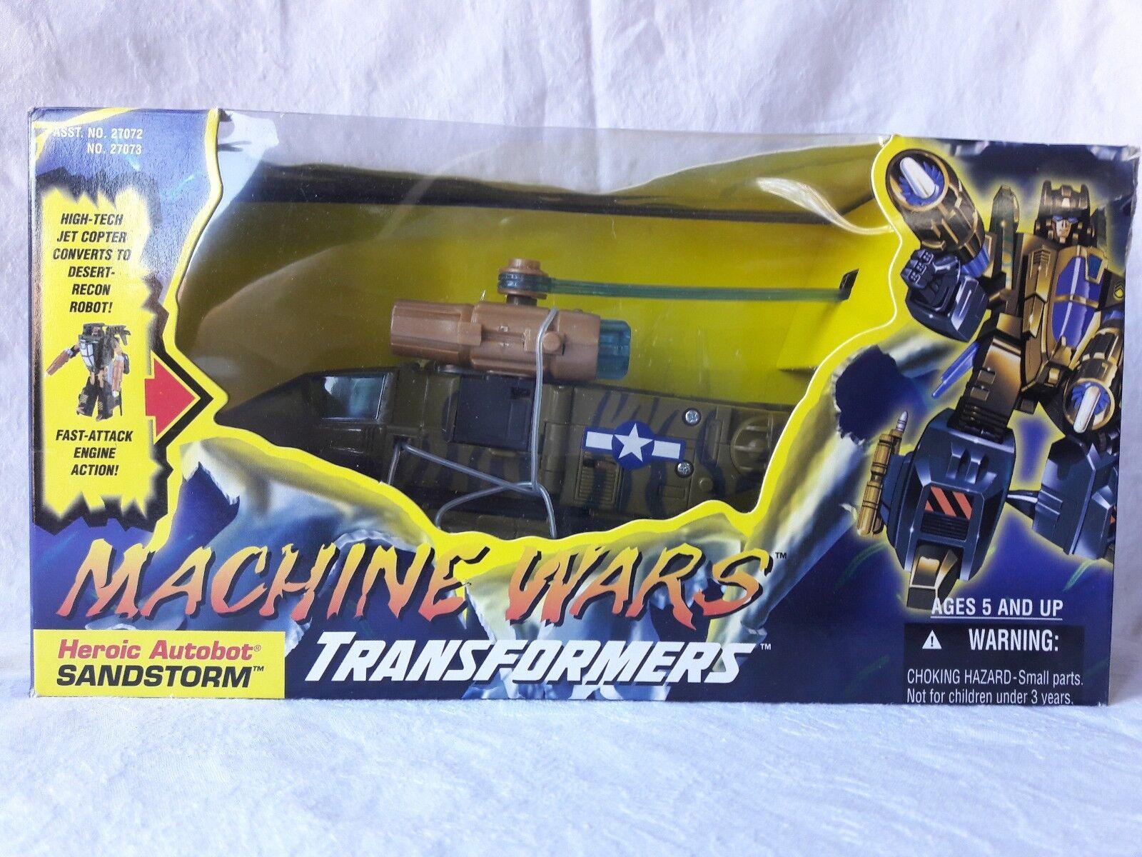 Vintage 1996 Machine Wars Transformers Heroic Autobot Autobot Autobot  Sandstorm (Copter) NISB 0a2040
