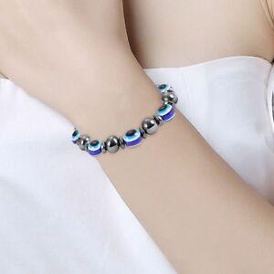 Unisex-Magnetische-Armband-Perlen-Haematit-Stein-fuer-Therapie-Gesundheitswes-T6