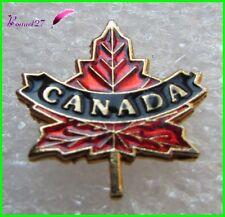 Pin's Écusson pays le CANADA avec la Feuille d'Érable rouge brillant #1027