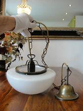 Deckenlampe Jugendstil Pilzlampe Hängelampe Messing Antik Pendelleuchte Glas NEU