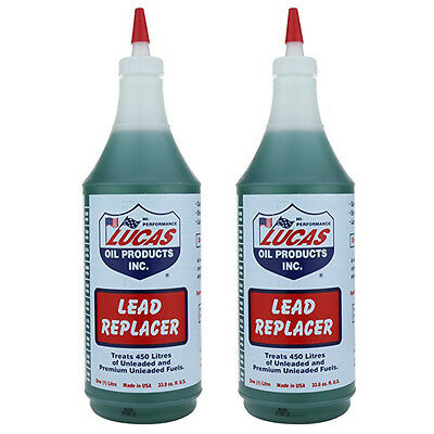 2 x Lucas Lead Substitute Replacement Fuel Additive Treatment Unleaded Petrol 1L
