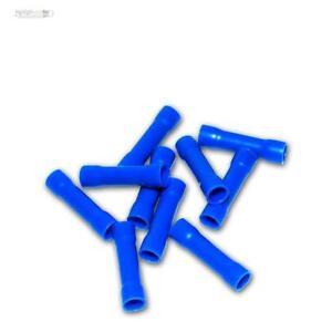 Stoßverbinder Quetschverbinder 1,5-2,5mm²  blau crimp Fast on 20 St