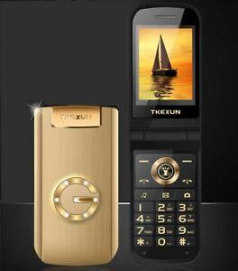 Mobile-Phone-Flip-Metal-Senior-Big-Keyboard-Torch-Loud-Speaker-GSM-2-SIM-GPRS-FM