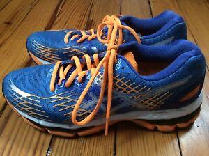 best service da046 419e8 Details about Asics Gel-Nimbus 17 Women's Running Shoes - Blue/Orange - Sz 8