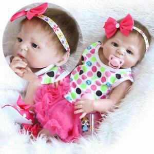 23 Lifelike Full Body Silicone Reborn Baby Doll Vinyl Newborn Baby