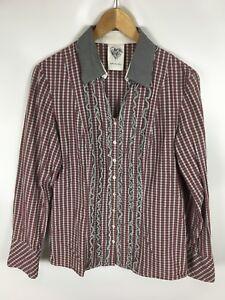 BETTY-BARCLAY-Bluse-mehrfarbig-kariert-Groesse-42-100-Baumwolle