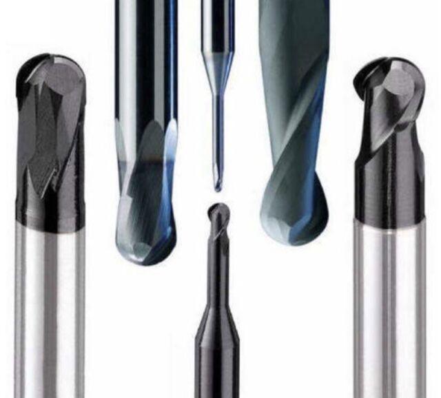 Carbide 3//8 End Mill 3 FL TiCN Sq End