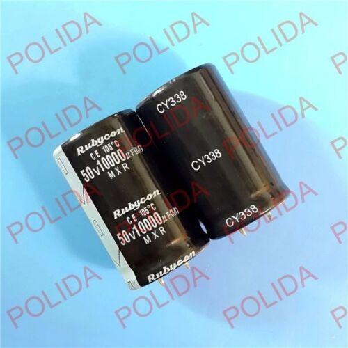 10PCS Electrolytic Capacitor Rubycon 30*50mm 10000UF50V//50V10000UF