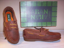 Scarpe basse mocassini Aban bimbo bambino shoes casual pelle marroni lacci 31 33