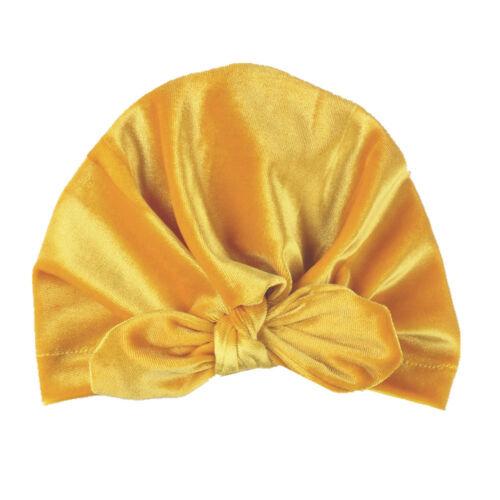 velvet baby hat for girls winter baby photography prop elastic infant turban GAB