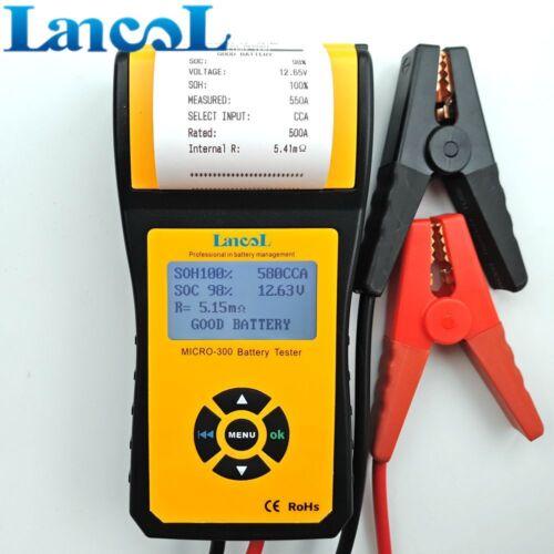 LANCOL Digital Car CCA Battery Load Tester Analyzer 12V with printer MICRO-300