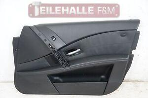 BMW-E61-E60-5er-Tuerverkleidung-Tuerpappe-vorne-rechts-Leder-Dakota-schwarz