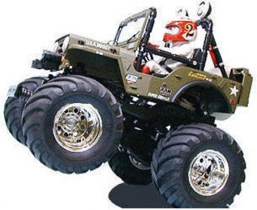 Tamiya 58242 Wild Willy Jeep Kit RC Kit - DEAL BUNDLE with STEERWHEEL Radio
