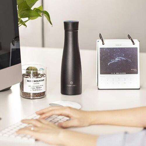 Black Noerden LIZ Smart Water Bottle 16 oz 480ml UV Self-Cleaning Sterilization