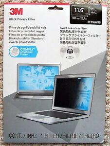 3M PF116W9B Privacy Filter 11.6in Widescreen Laptop PF116W9B Screen