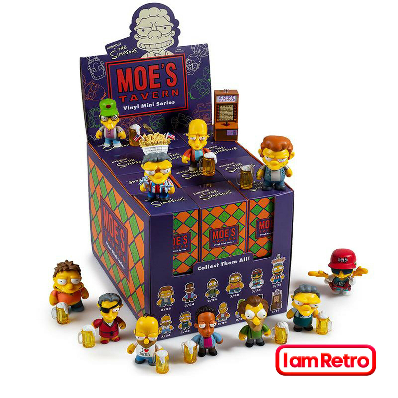 Moe's Tavern The Simpsons Mini Series Nuovo Sealed Display Case 24 pcs by Kidrobot