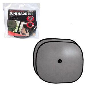 2-X-Auto-Fenster-Sonnenblende-Stopper-Schwarz-Netz-Rollo-Visier-Abdeckung-Hund