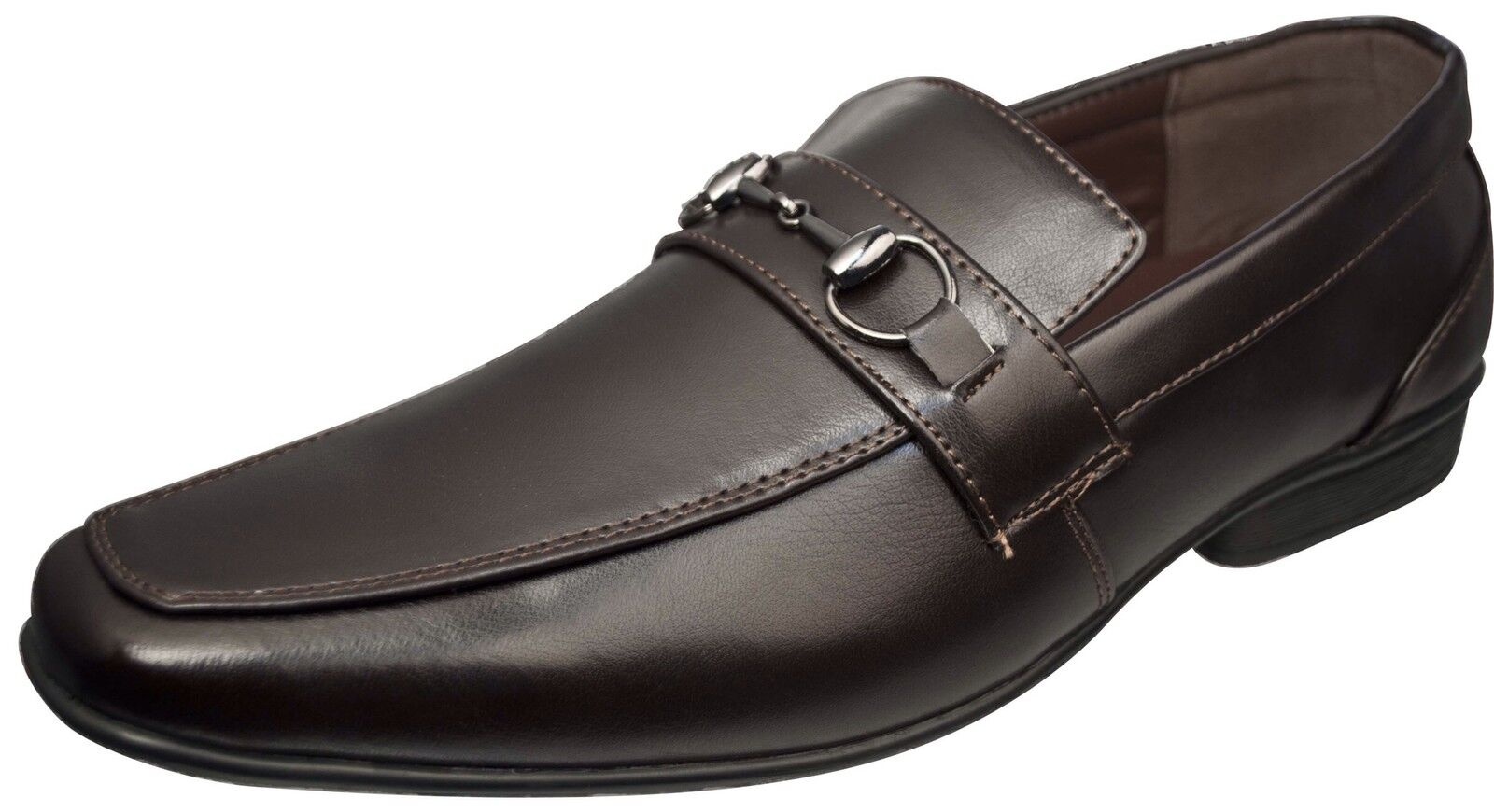 New Men Dress shoes Coffee w Comfort Padded Insoles Size 12