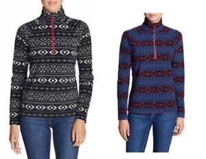 EDDIE BAUER Women/'s Quest 150 Fleece 1//4-Zip Pullover Sweater XS,S,M,L NEW NWT!