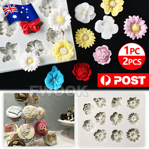 3D Silicone Fondant Mold Sugarcraft Flower Cake Decorating Tools Chocolate Mould