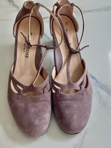 Taryn Rose Mauve Suede Mary Janes  - 40.5