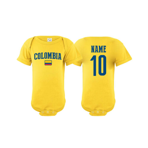 Colombia Soccer Baby Outfit Mameluco Infant Girls Boys Bodysuit T-shirt