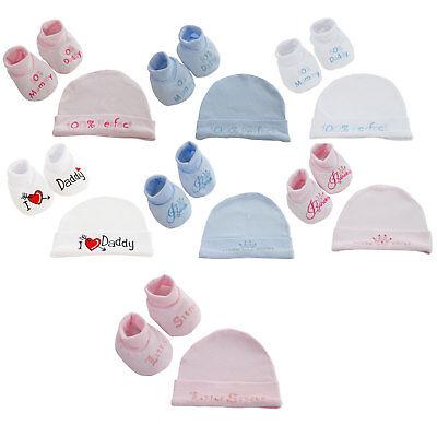 Bene Baby Boys Girls 2 Pezzi Gift Set Morbido Cappello & Scarpine Set Nb-3 Mesi-