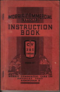 Details About Morris Commercial Cv 3 5 Ton Original Handbook 1939 Pub No C3