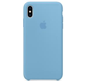 Echt-Original-Apple-iPhone-XS-Silikon-Huelle-Silicone-Case-Cornflower-Kornblume